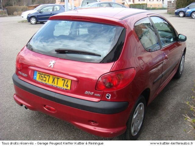 PEUGEOT 206 1,4 HDI 3PT 2003 - Voiture d'occasion