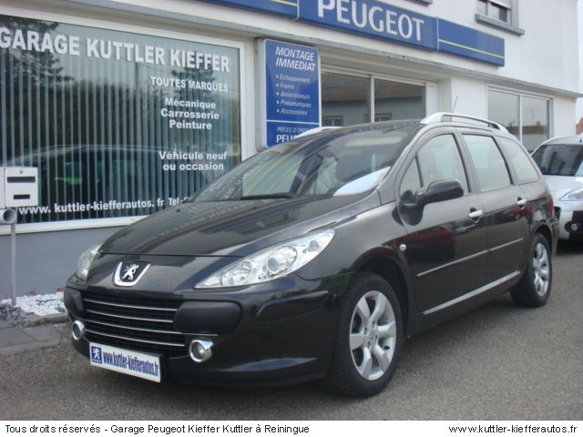peugeot 307 sw 1 6l hdi 110cv sport 2007 occasion auto. Black Bedroom Furniture Sets. Home Design Ideas