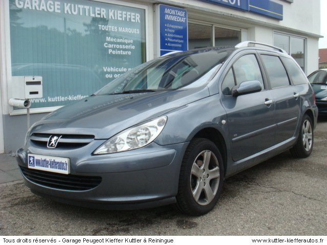 peugeot 307 sw 1 6l hdi 110cv pack 2005 occasion auto peugeot 307 sw. Black Bedroom Furniture Sets. Home Design Ideas