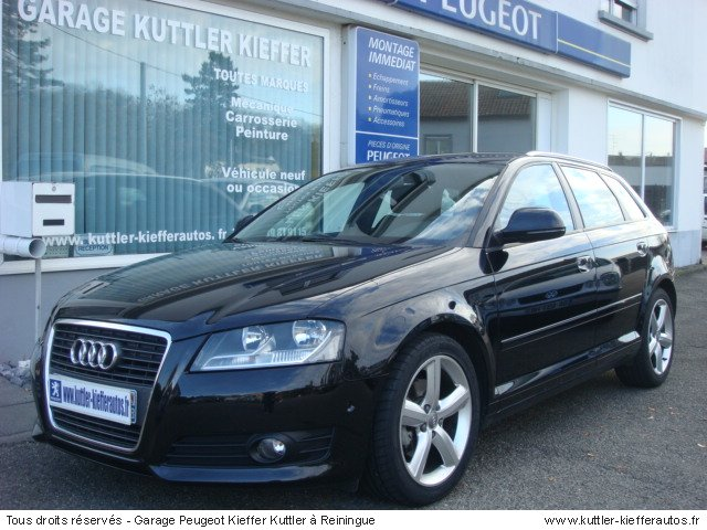 audi a3 sport back 2l tdi 143cv s line 2010 occasion. Black Bedroom Furniture Sets. Home Design Ideas