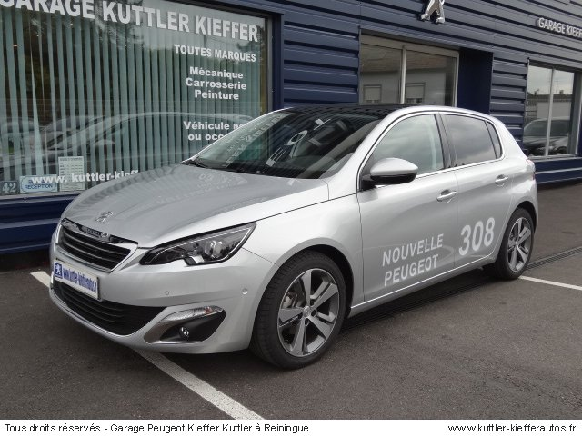 peugeot nouvelle 308 1 6l hdi 115cv feline 2013 occasion. Black Bedroom Furniture Sets. Home Design Ideas